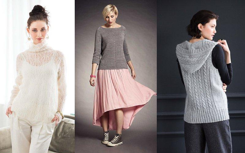 вязание спицами для женщин модные модели на 2016 год от Vogue вяжиру