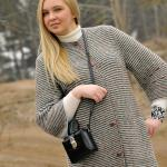 Вязаное пальто April