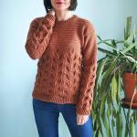 Вязаный крючком пуловер Lau
