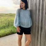 Пуловер из мохера Noctilucent Clouds