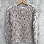 Ажурный пуловер спицами Olive